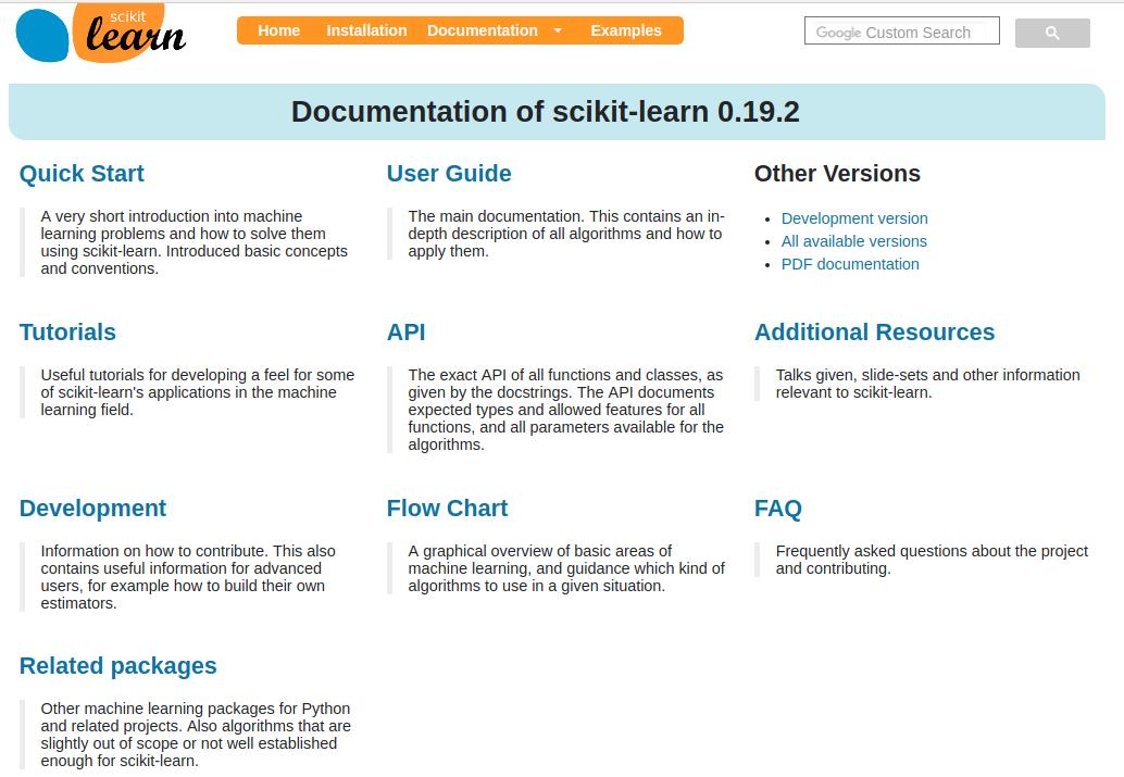 Reminder on Scikit-learn API